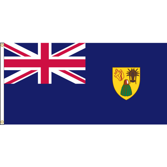 Turks and Caicos Flag with header and grommets.