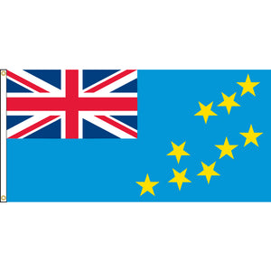 Tuvalu Flag with header and grommets.