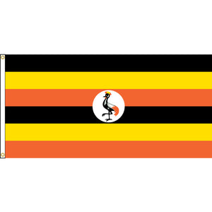 Uganda Flag with header and grommets.