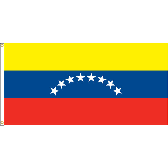 Venezuela Flag with header and grommets.