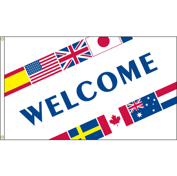 Welcome International Flag