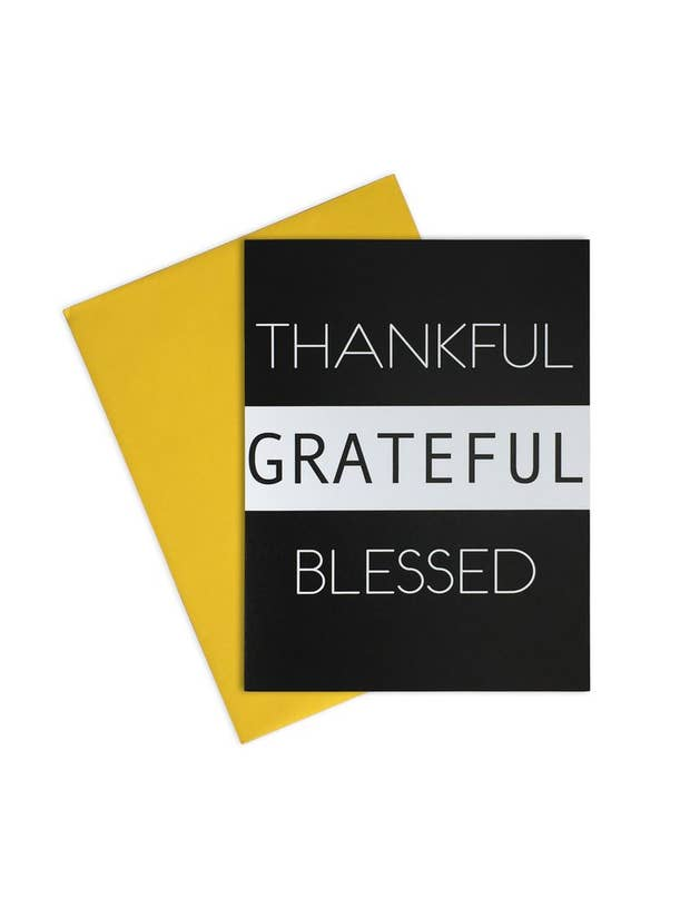 Thankful Grateful Blessed Card