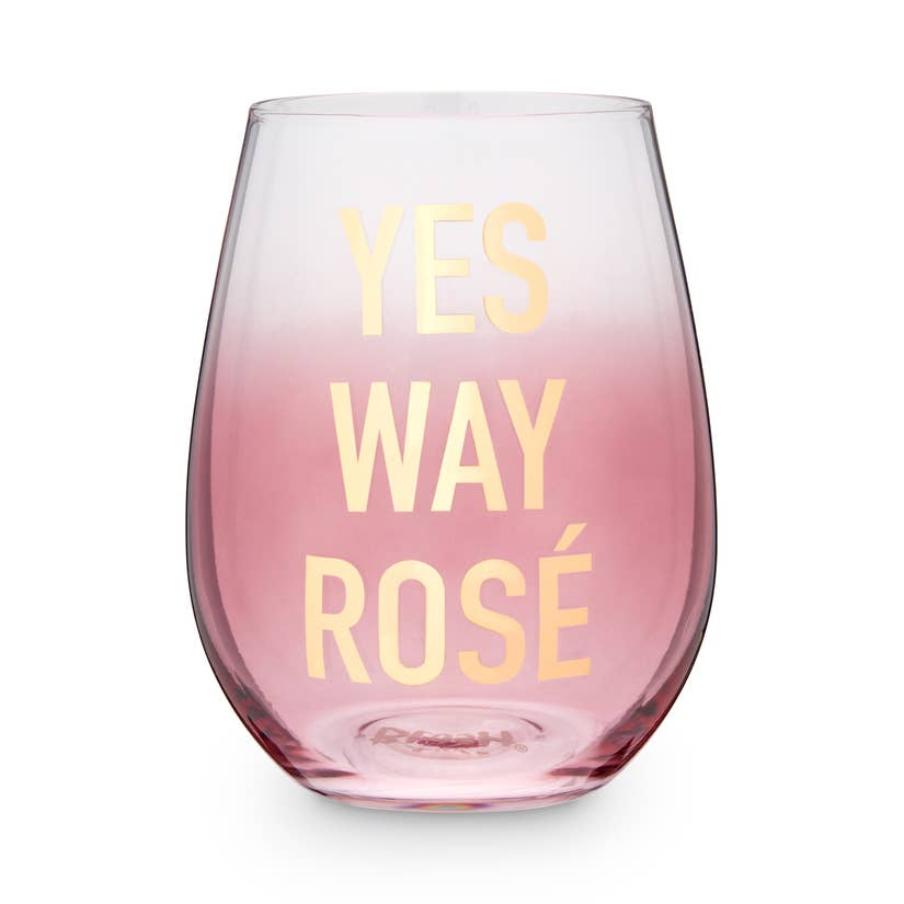 Stemless Rosé glass