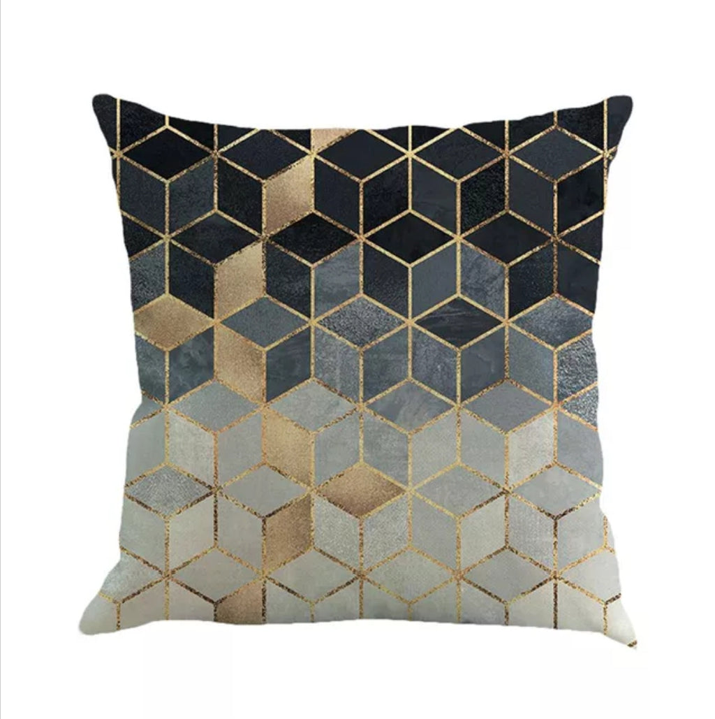 Blues in Hues Mosaic Pillow
