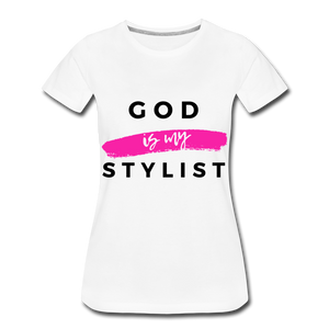 God is My Stylist (White) - white