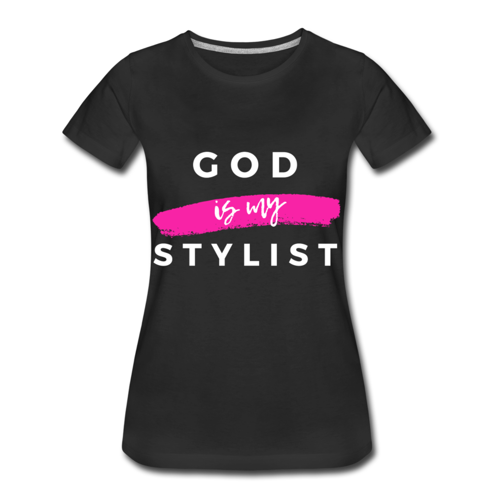 God is My Stylist (Black) - black