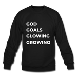 God Goals Glowing Growing TShirt - black