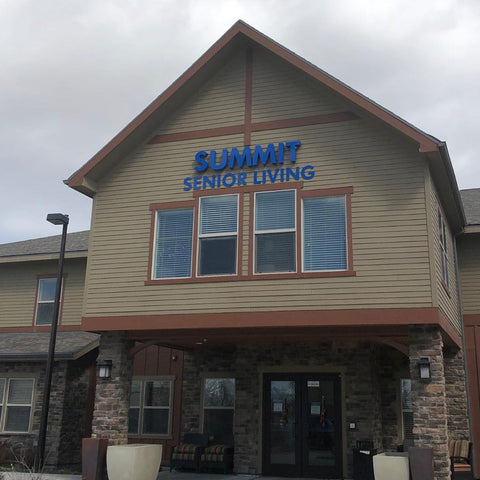 Exterior of the Summit Senior Living building