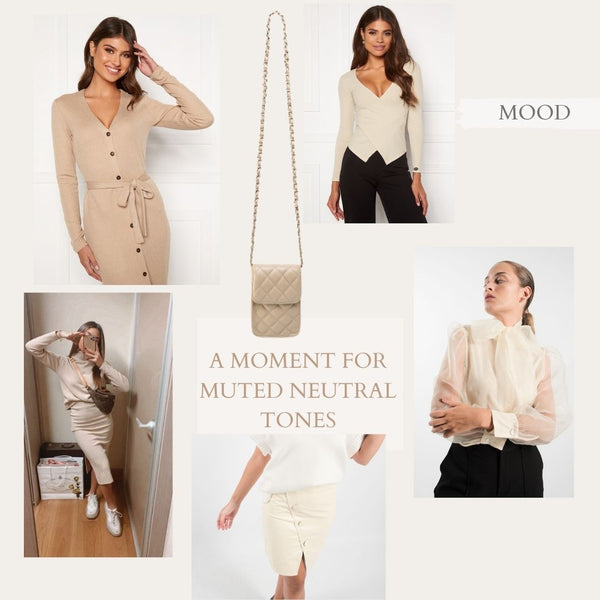 This is a collage featuring some of our Neutral Toned pieces from the A/W Collection.