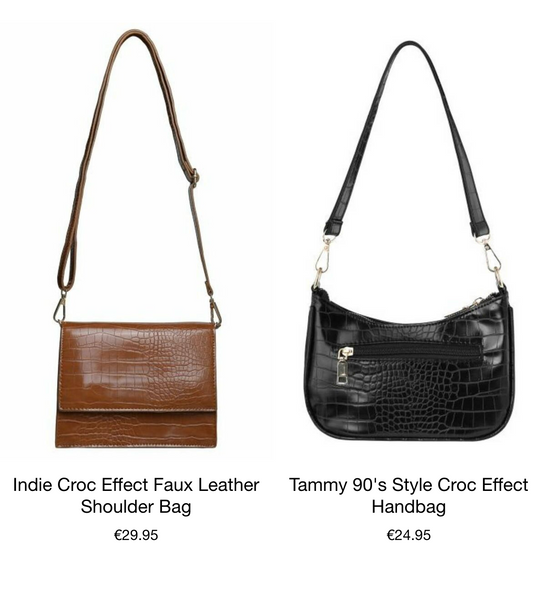 This is an image of the Indie handbag and the tammy 90s style handbag