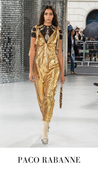 Paco Rabanne Gold Sequin Gown S/S 2021