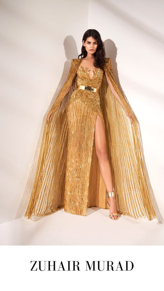 Zuhair Murad Gold Evening Gown S/S 2021 Collection