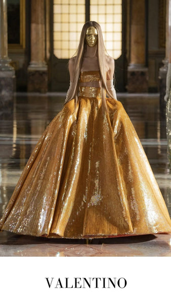 Valentino Gold Ball Gown Spring/Summer 2021