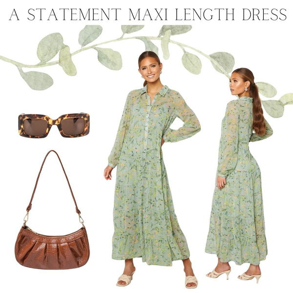 We firmly Believe that every Lady should have at least one Statement Maxi Dress in their Summer Wardrobe. When it comes to Maxi's there is a fine line between Dressy & Casual and it's so easy to transform a Sunny Day Dress into an Evening look by Simply adding a heel and changing up your Accessories..