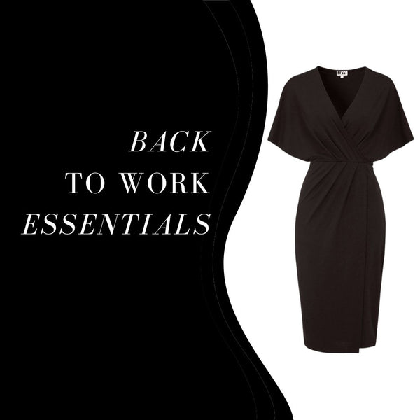 This is an image of our Selena Black Midi Dress. This Perfect Little Black Dress can be dressed up for Functions or worn for Work. This Dress is made of a Stretchy Fabric that Hugs the Figure nicely.  It has an Overlay Detail Enhancing the Waist and creating Shape. It has a V Neckline and a Slit on the Side.  This dress has a Side Zip Closure. It is Small Fitting so if you are between two sizes we recommend opting for the Larger Size.  Allows for loads of Accessorising, Add a Thin Belt to the Waist, Some Oversized earrings, and layered Necklaces to make this look your own.