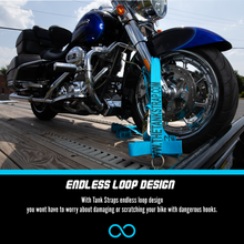 TANK STRAP: 2pk (Special Edition) Blue. 1 Bike Set