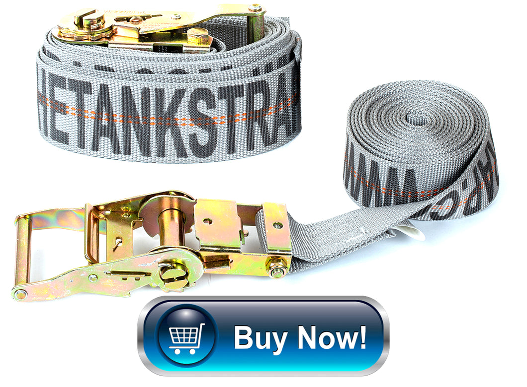 TANK STRAP: 2pk Battle Ship Grey w/ Logo) 1 Bike Set