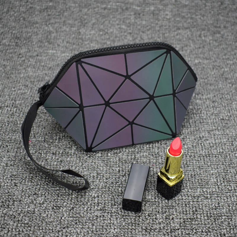 Geometric Makeup Bag Womens Cosmetic Clutch