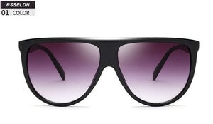 RSSELDN Oversized Womens Square Gradient Sunglasses