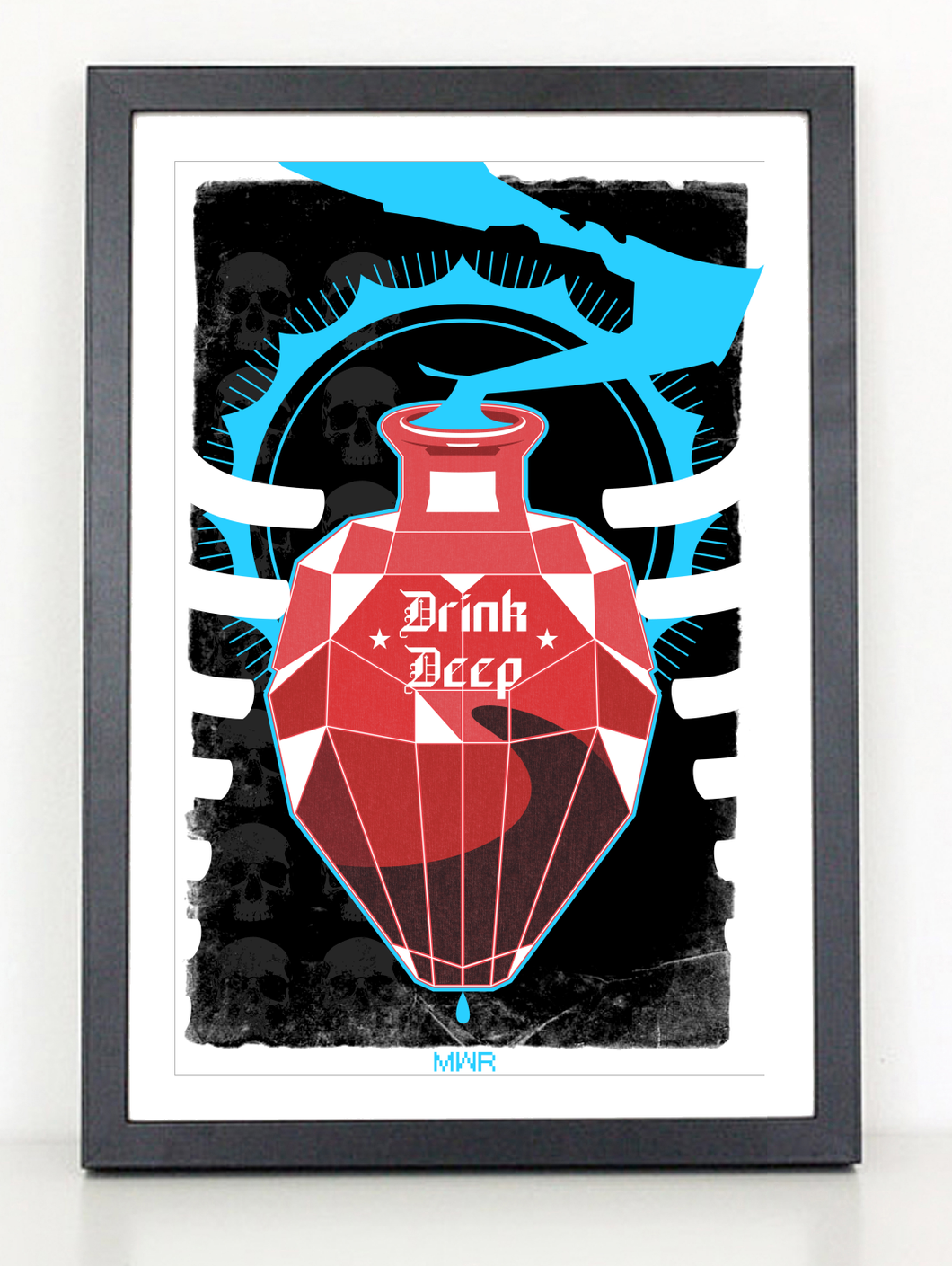 Drink Deep Gothic poster print