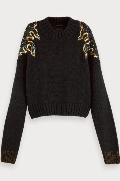 Embellished Sweater Black