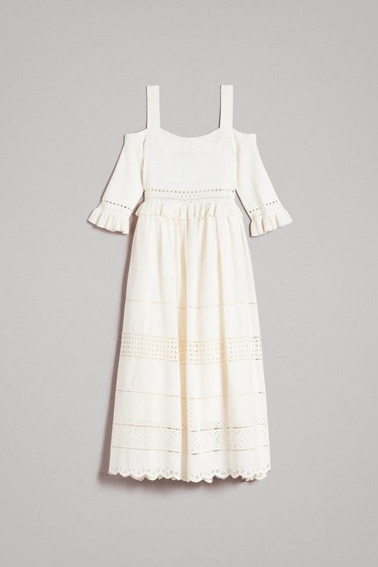Broderie Anglaise Knit Dress