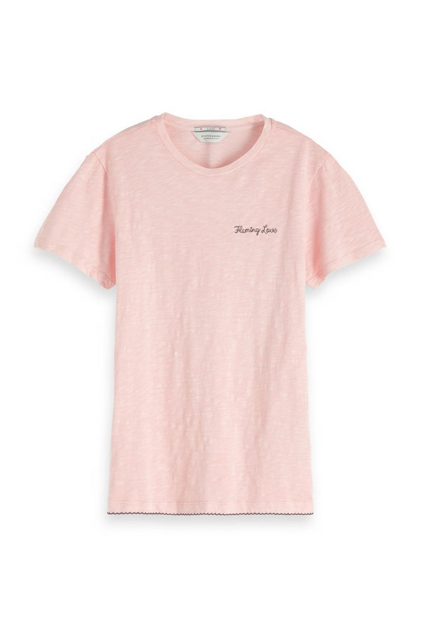 Basic Tee with Small Emb