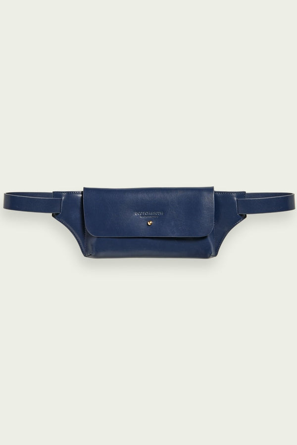 Leather Belt Bag Navy