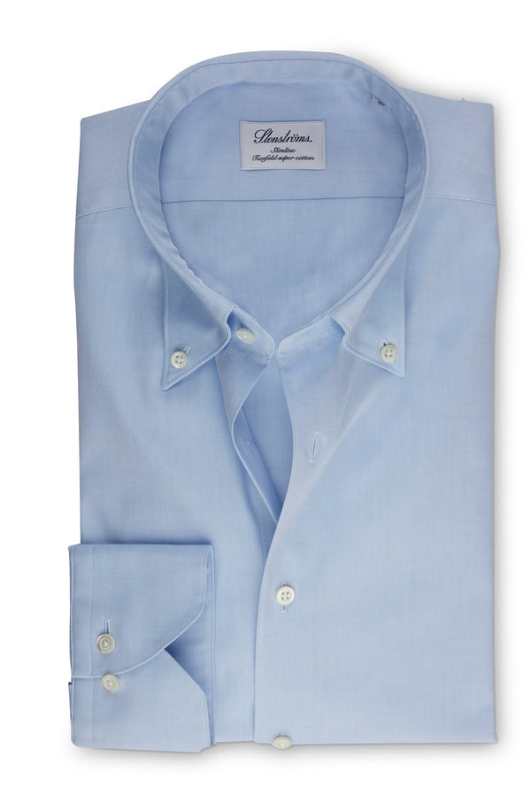 Button Down Slimline Sky Blue