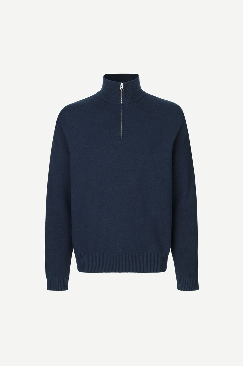 Guna Turtle Zip Neck Sky Captain