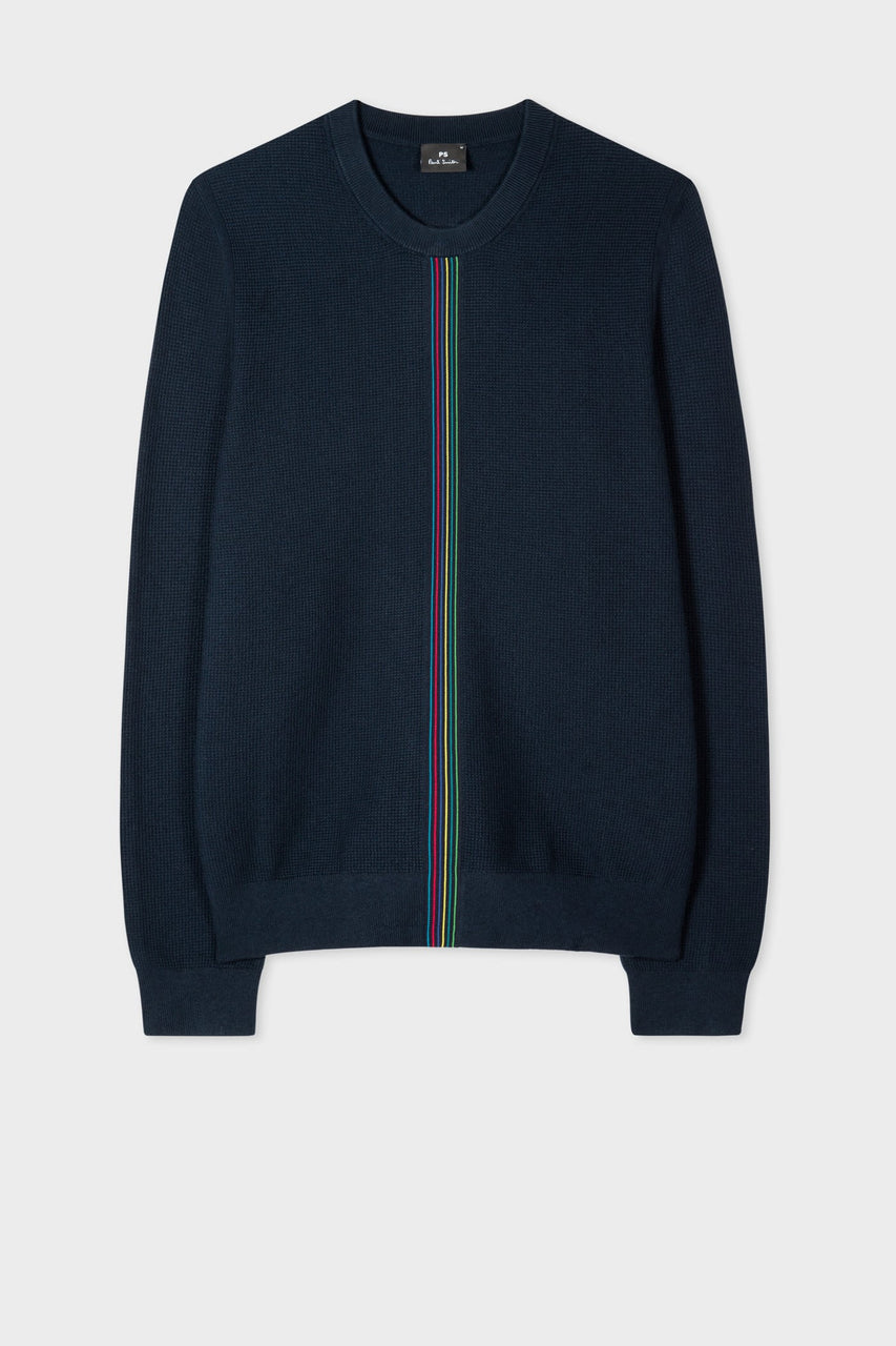 Racing Stripe Knit Dark Navy