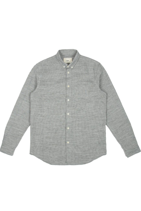 Relaxed Fit Shirt Salt and Pepper