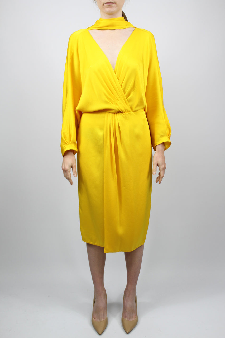 L/s Front Tie Wrap Dress