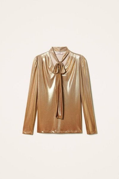 Metalic Blouse Gold