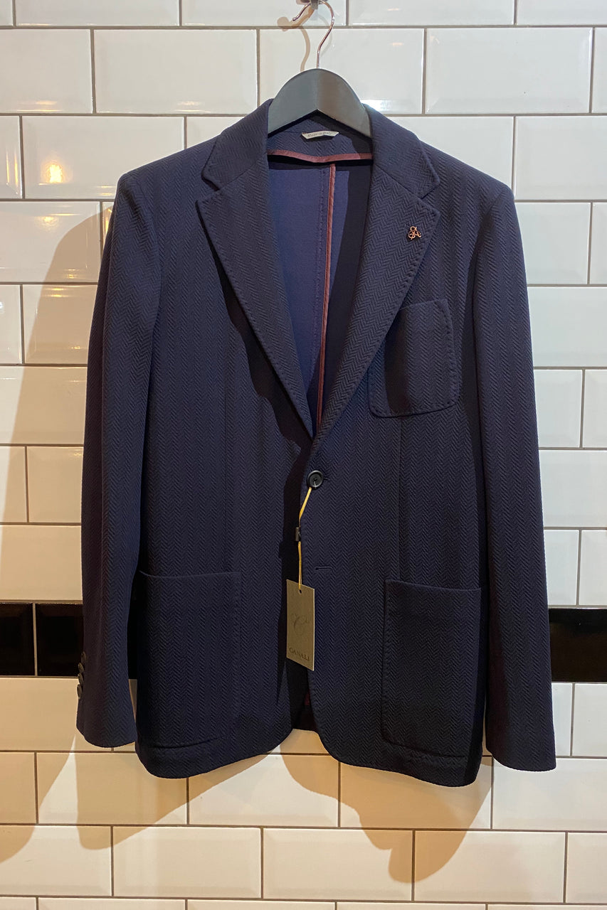 Herringbone Jacket Navy