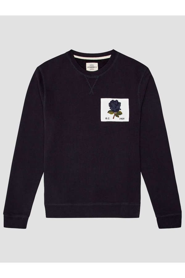 1926 Rose Patch Icon Sweat Deep Blue