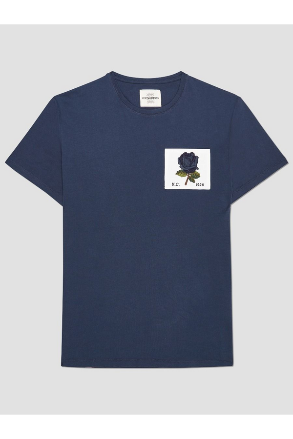 1926 Rose Patch Icon Tee Deep Blue