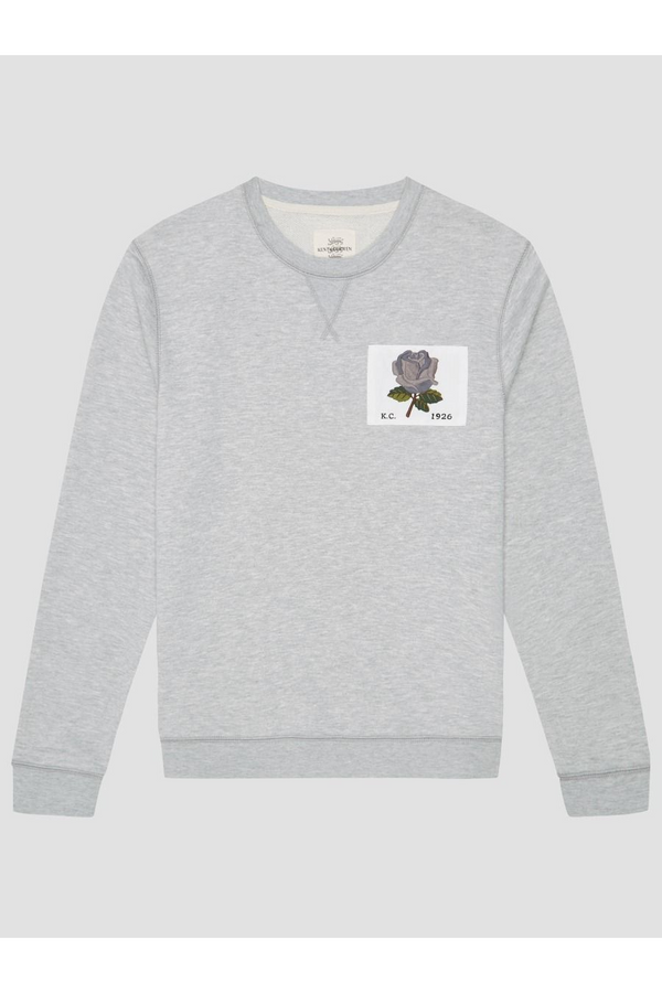 1926 Rose Patch Icon Sweat Grey