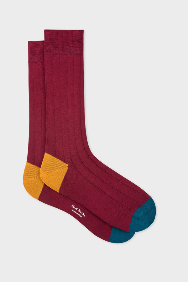 Plain Contrast Sock