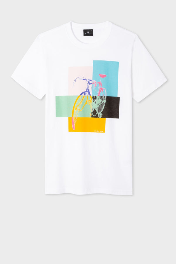 Bike T Shirt White