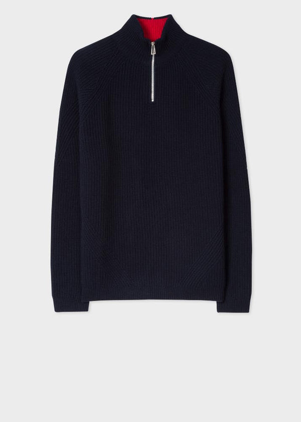Pullover Zip Neck Dark Navy
