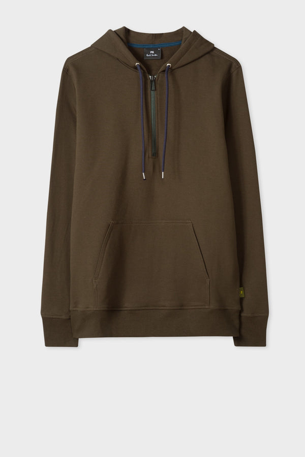 Half Zip Hoody Military Green
