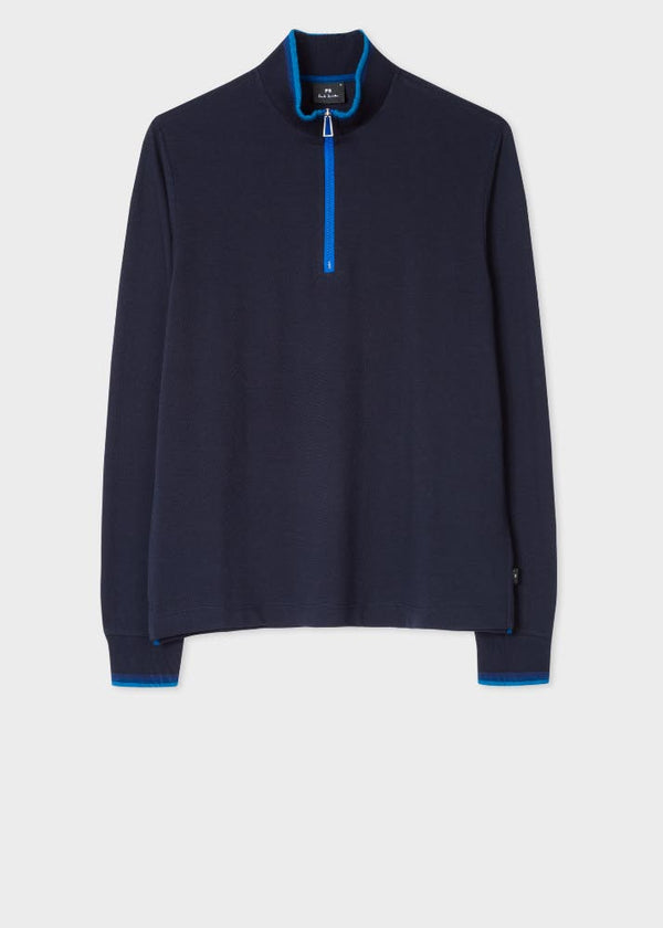 Zip Neck Longsleeve Navy