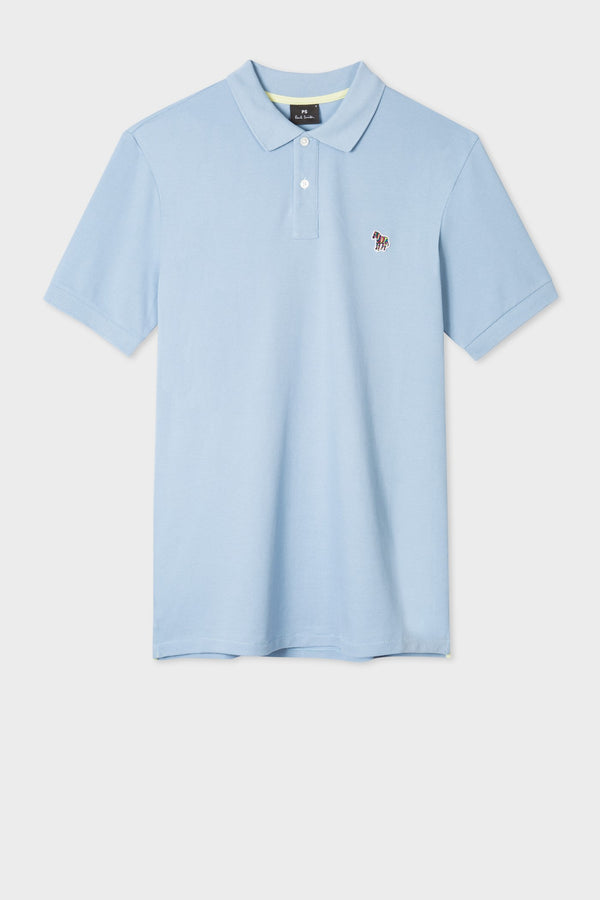 Reg Fit SS Polo Light Blue