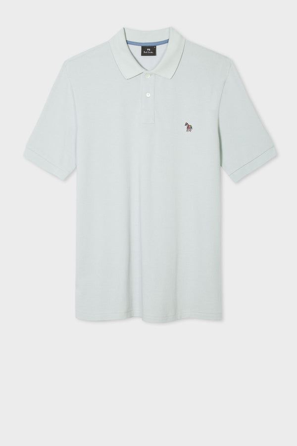 Zebra Logo Polo Powder Blue