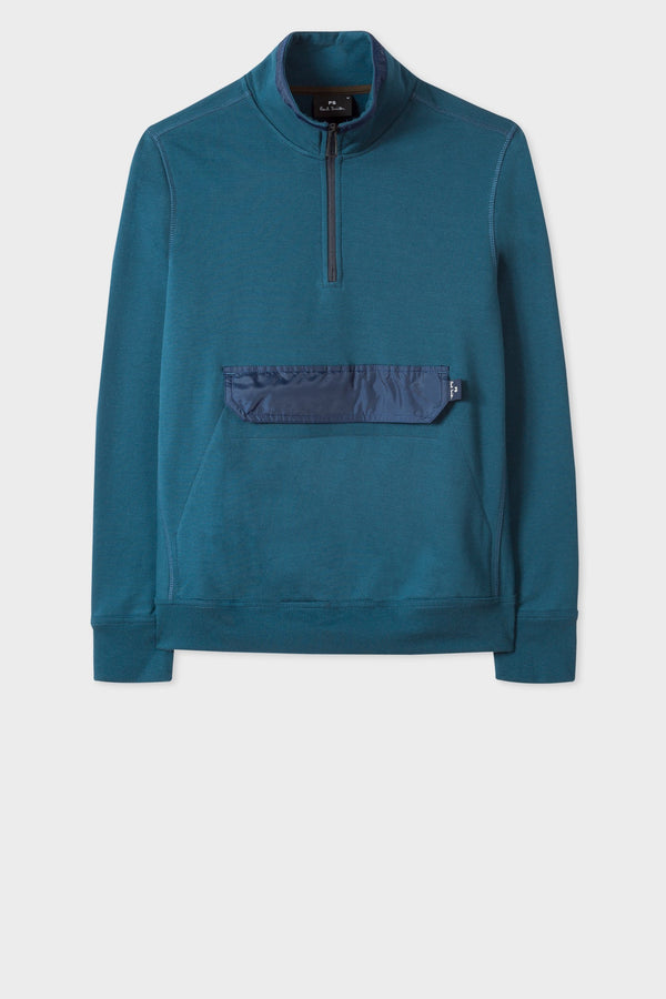 Mens Reg Fit Pocket Sweat Teal