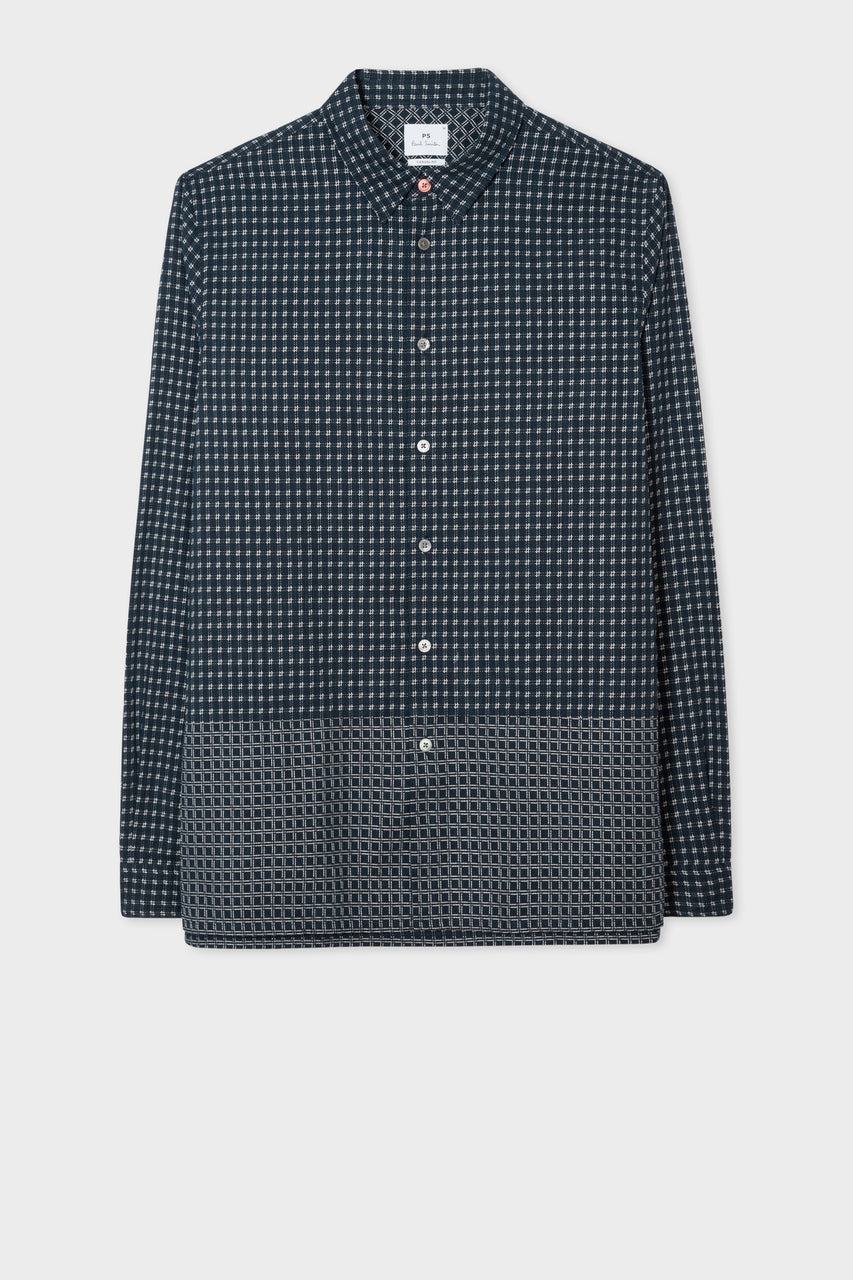 Panel Shirt Dark Navy
