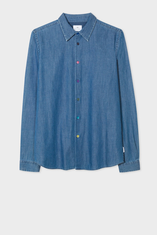 Chambray Shirt Mid Wash