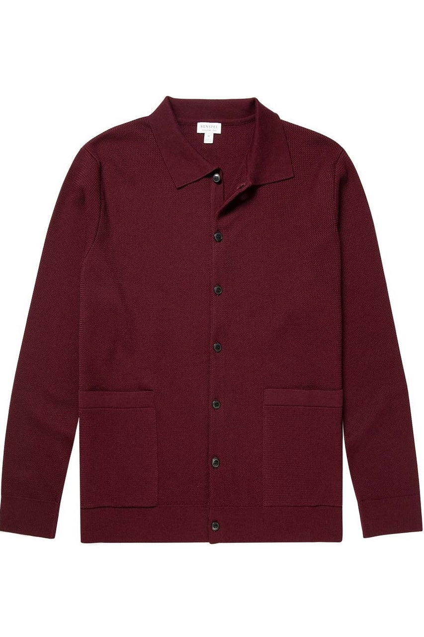 Knitted Jacket Maroon