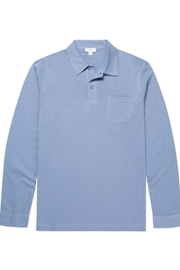 Riviera LS Polo Fern Blue